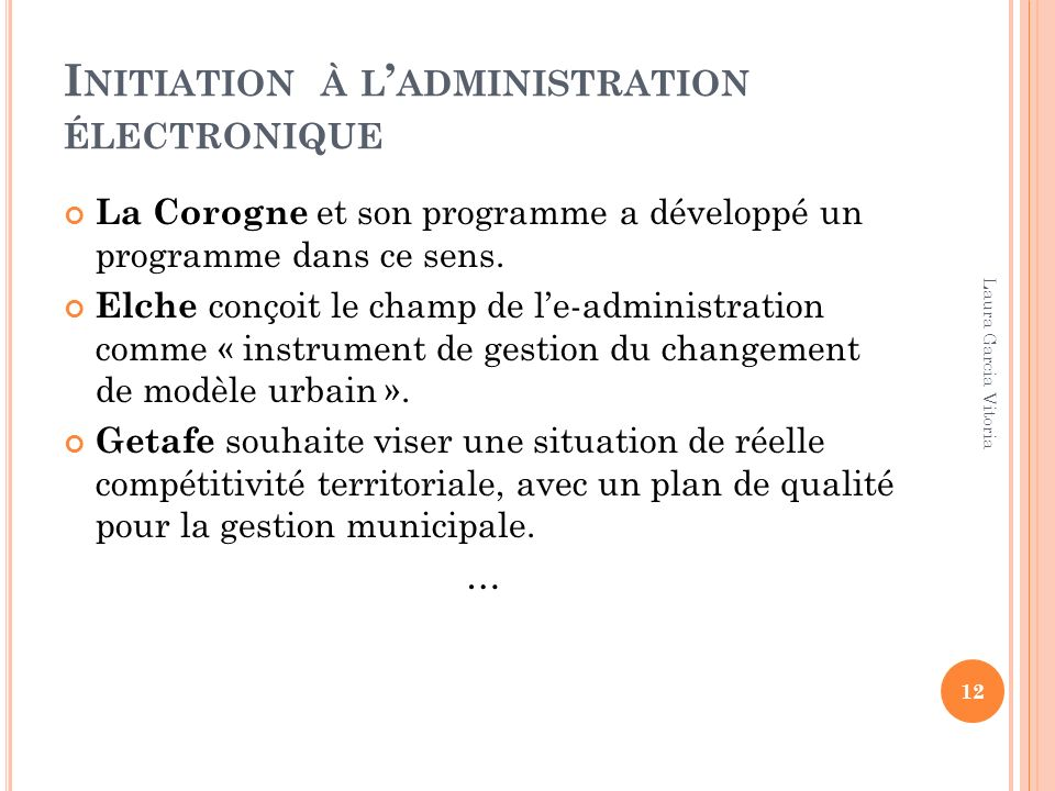 Initiation à l'administration électronique