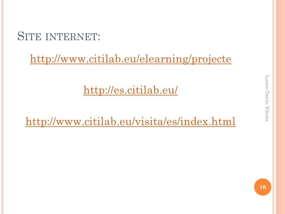 Site internet: http://www.citilab.eu/elearning/projecte