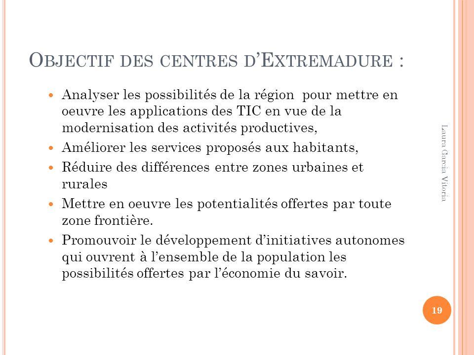 Objectif des centres d'Extremadure :