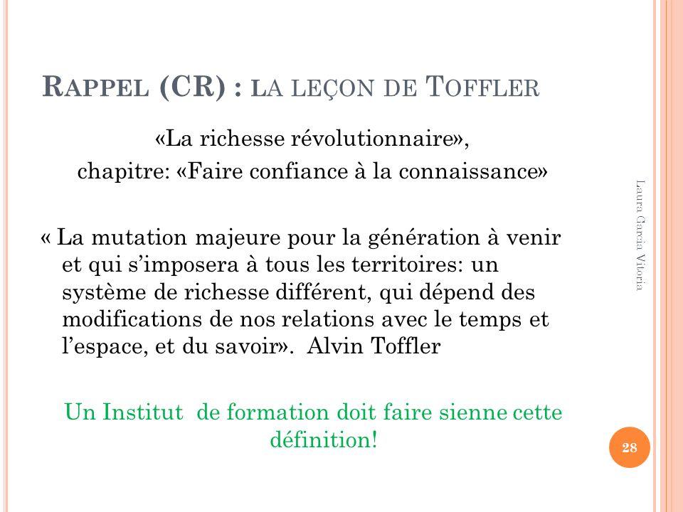 Rappel (CR) : la leçon de Toffler