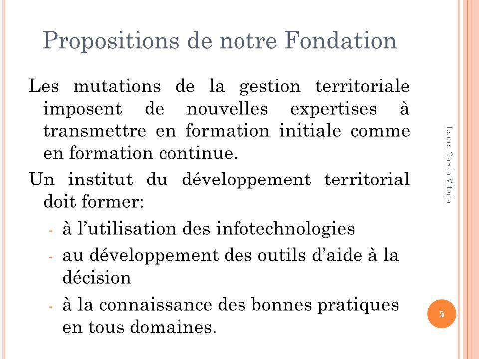 Propositions de notre Fondation