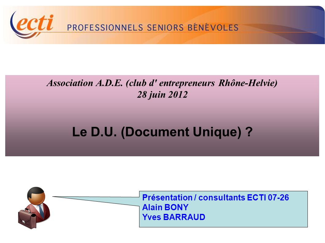 Le D.U. (Document Unique)