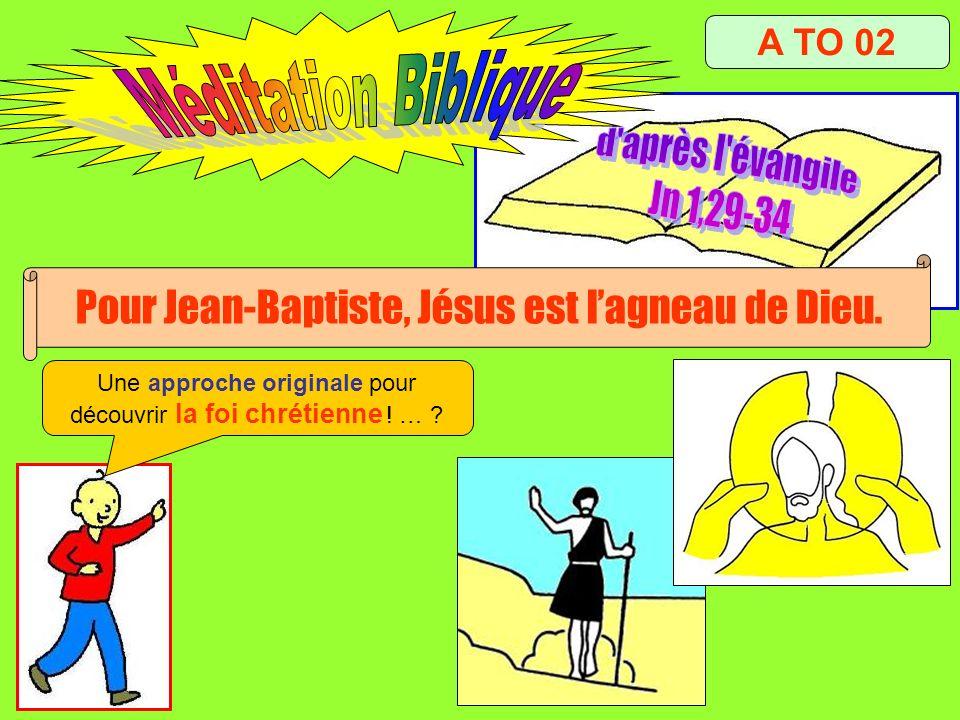 Méditation Biblique d après l évangile Jn 1,29-34