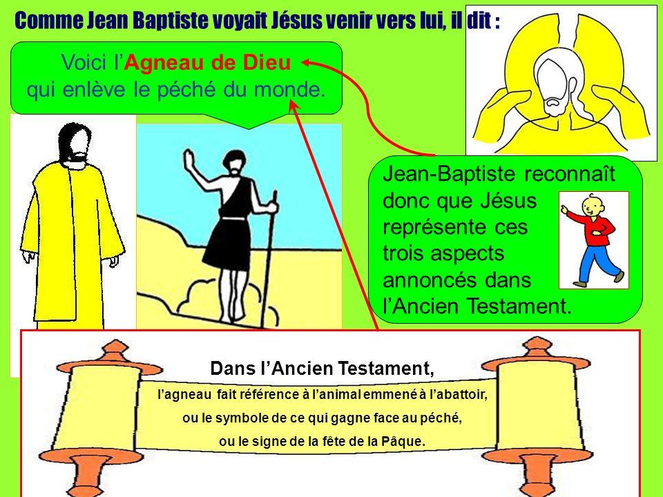 Comme Jean Baptiste voyait Jésus venir vers lui, il dit :