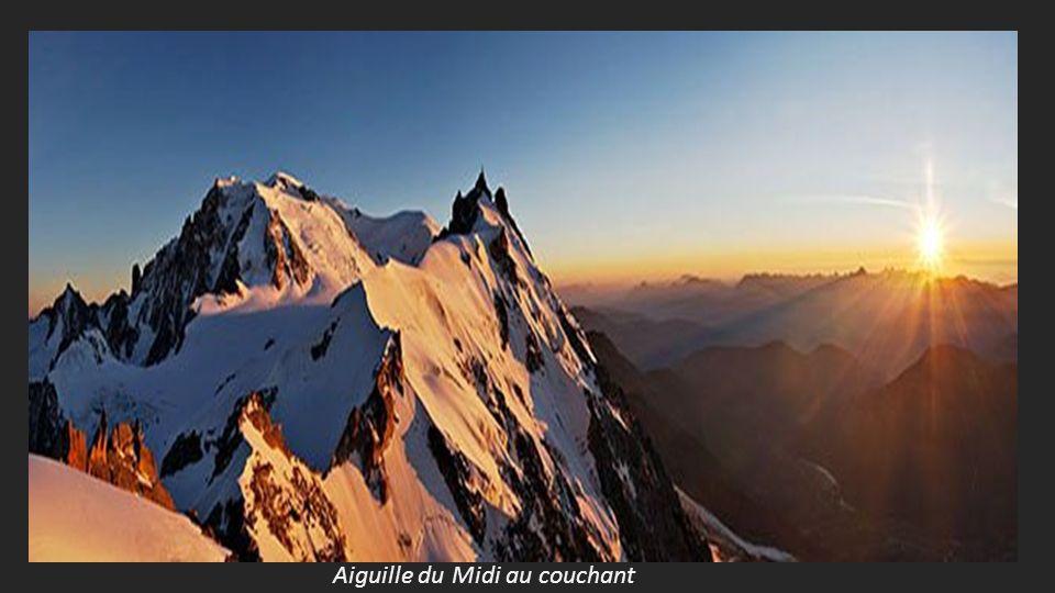 Aiguille du Midi au couchant