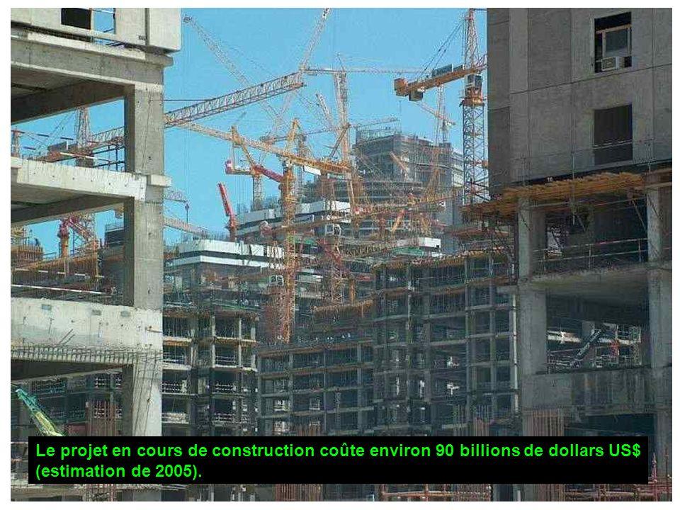 Le projet en cours de construction coûte environ 90 billions de dollars US$