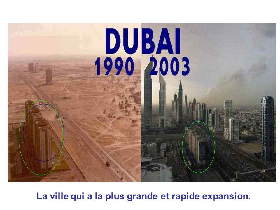 La ville qui a la plus grande et rapide expansion.