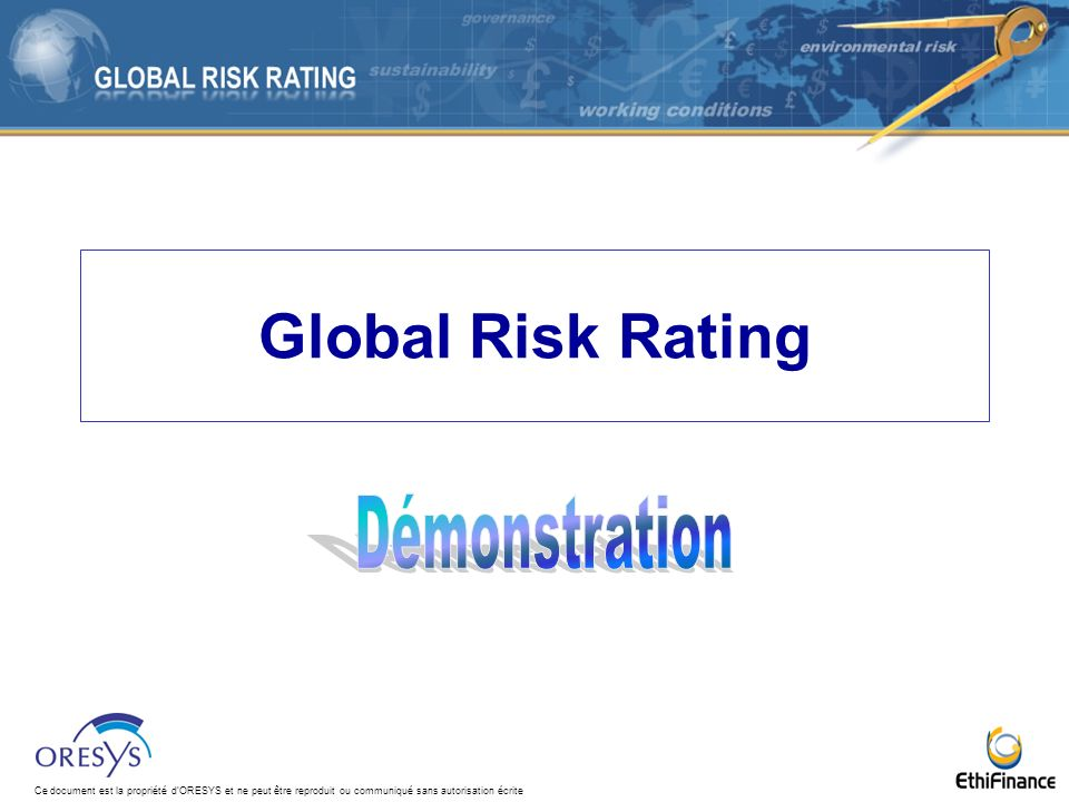 Global Risk Rating Démonstration