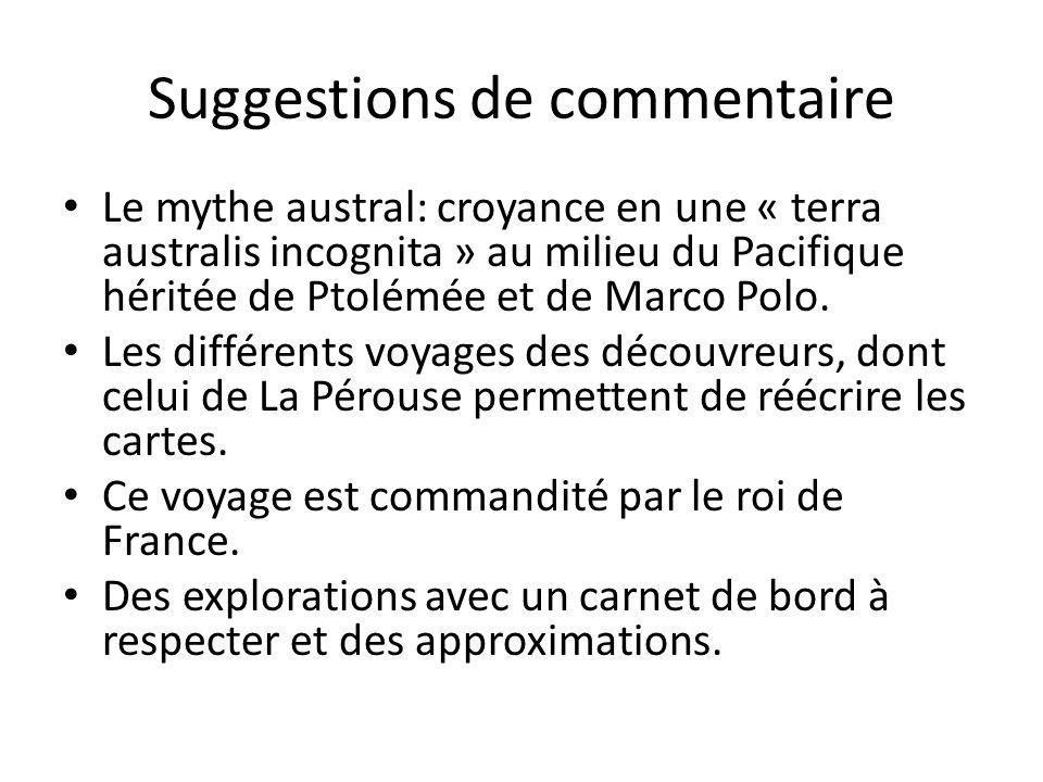 Suggestions de commentaire