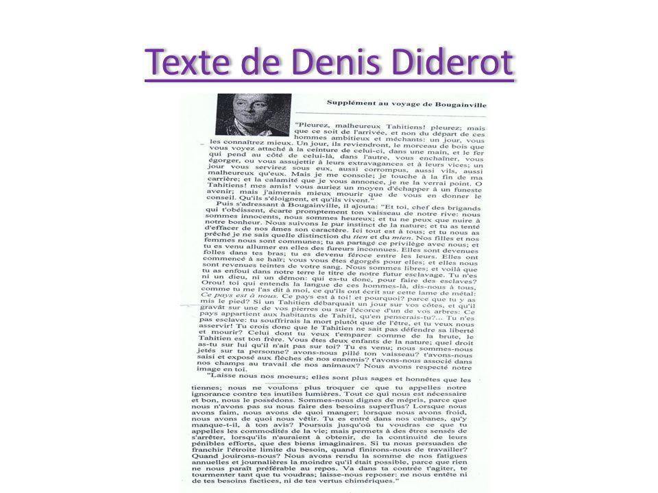 Texte de Denis Diderot