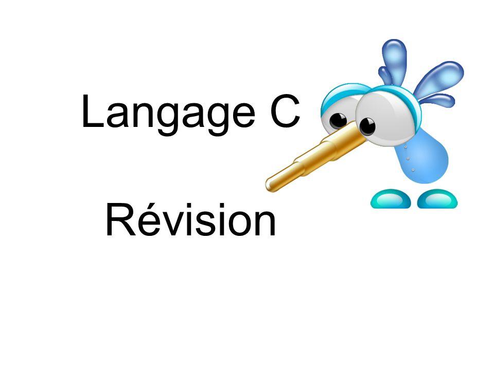 Langage C Révision
