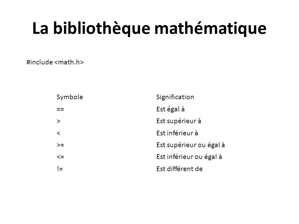 La bibliothèque mathématique