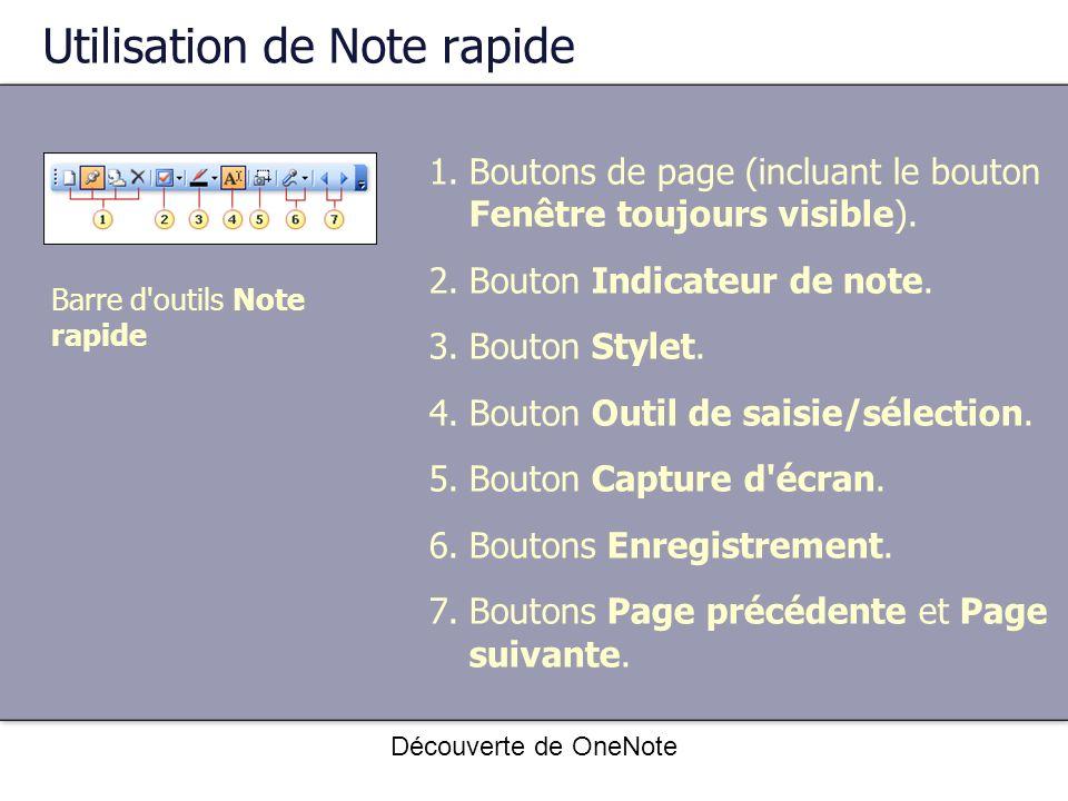 Utilisation de Note rapide