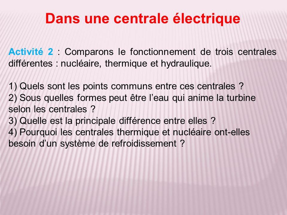 Dans une centrale électrique