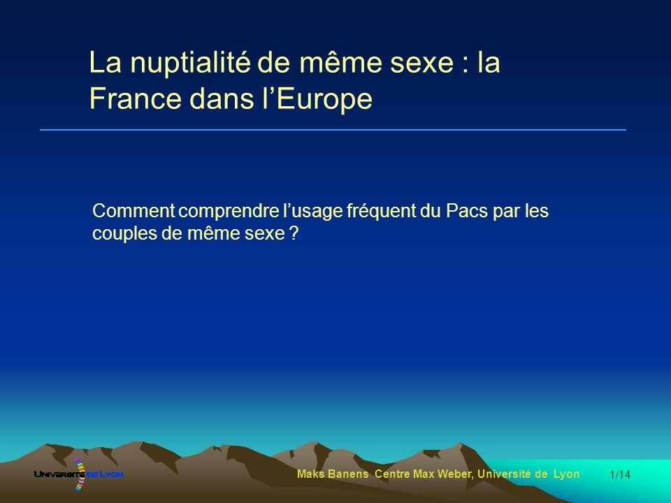 Maks Banens Centre Max Weber, Université de Lyon