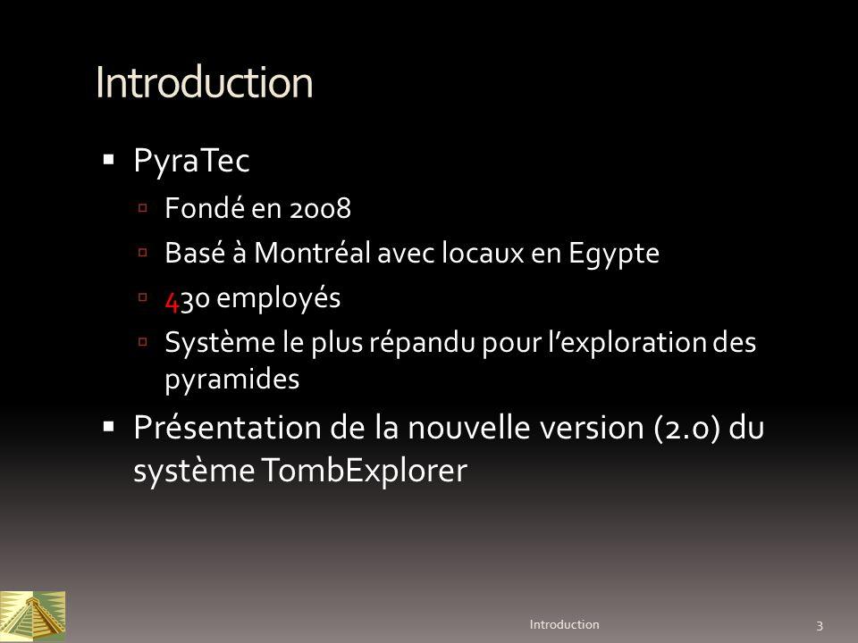 Introduction PyraTec. Fondé en 2008. Basé à Montréal avec locaux en Egypte. 430 employés.