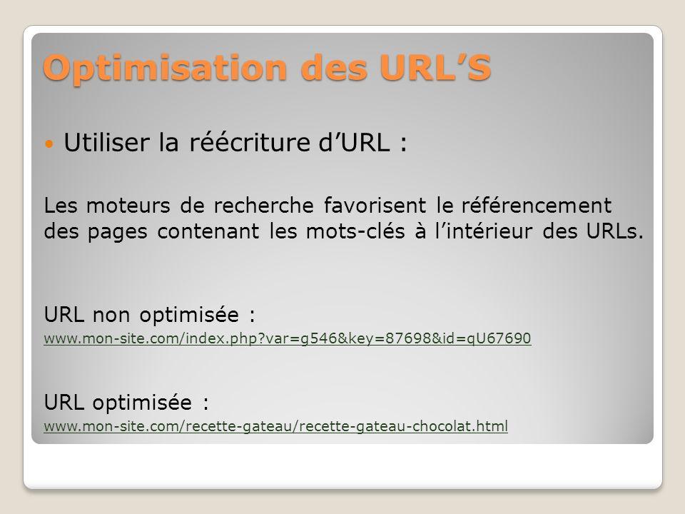 Optimisation des URL'S