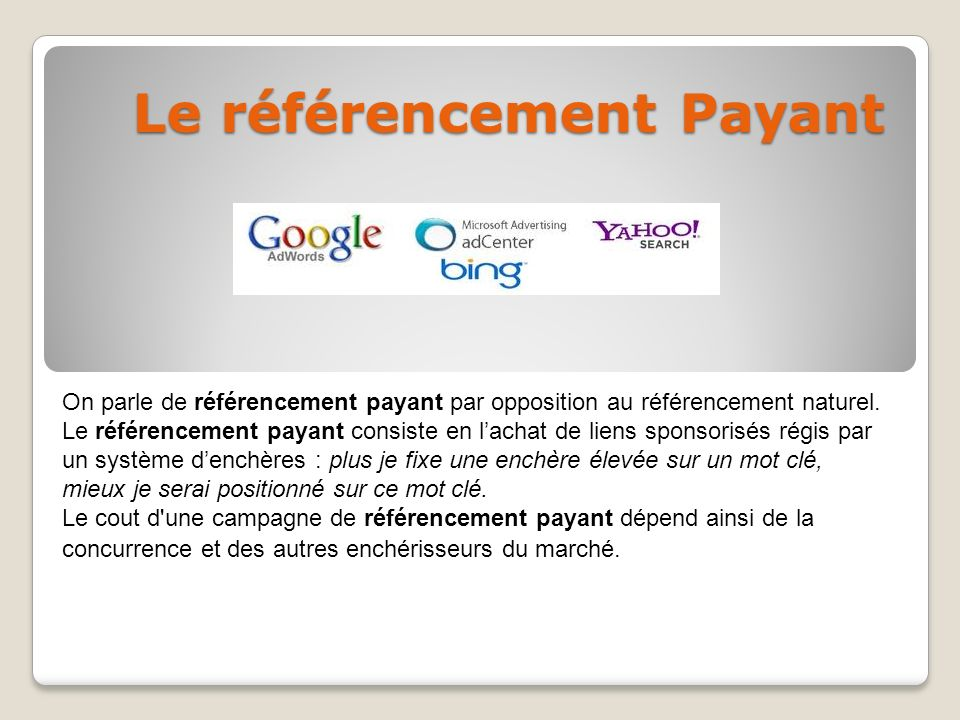 Le référencement Payant