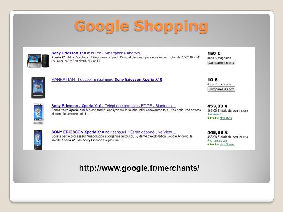 Google Shopping http://www.google.fr/merchants/