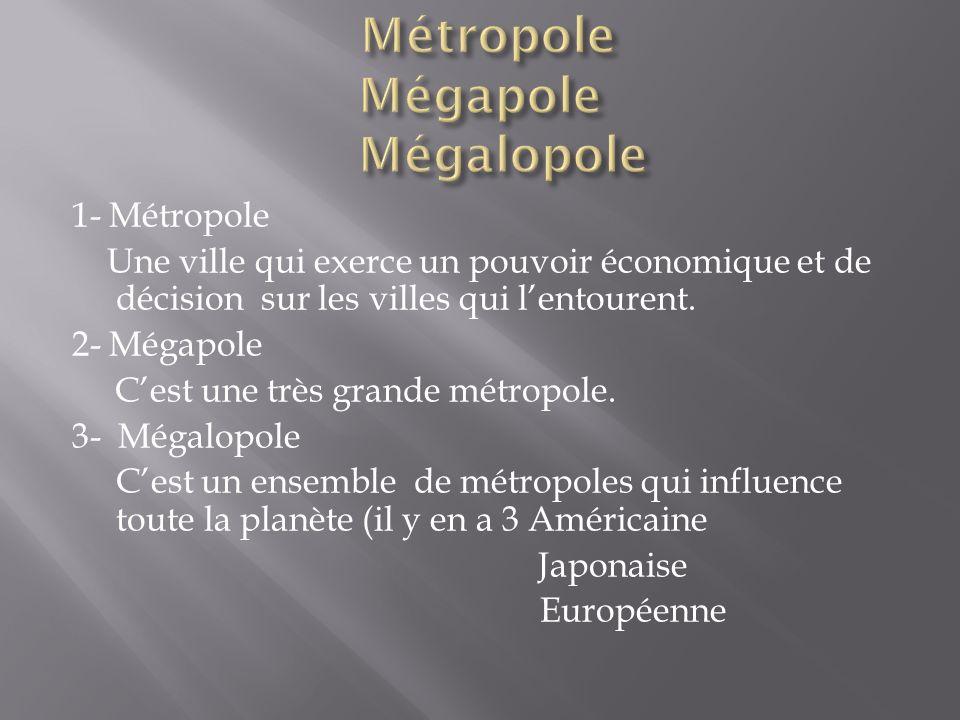 Métropole Mégapole Mégalopole