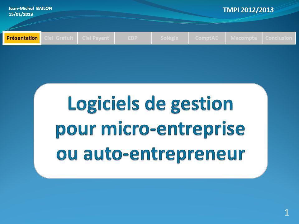 Logiciels de gestion pour micro-entreprise ou auto-entrepreneur