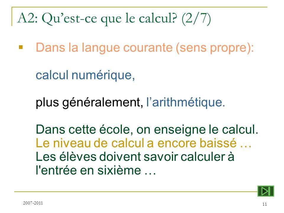 A2: Qu'est-ce que le calcul (2/7)