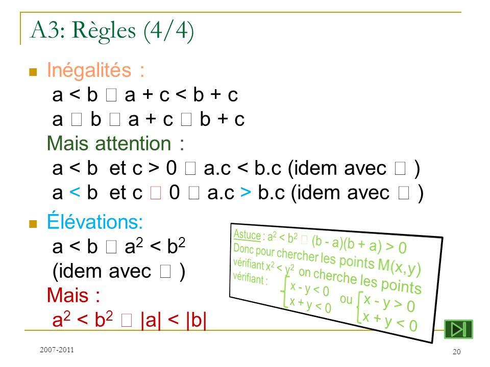 A3: Règles (4/4)