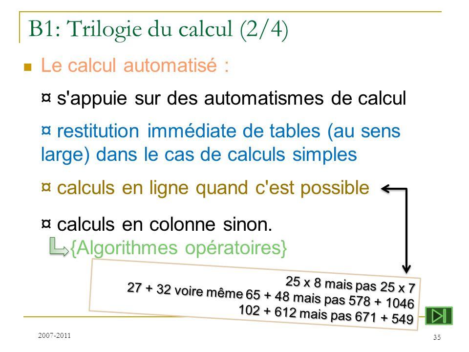 B1: Trilogie du calcul (2/4)