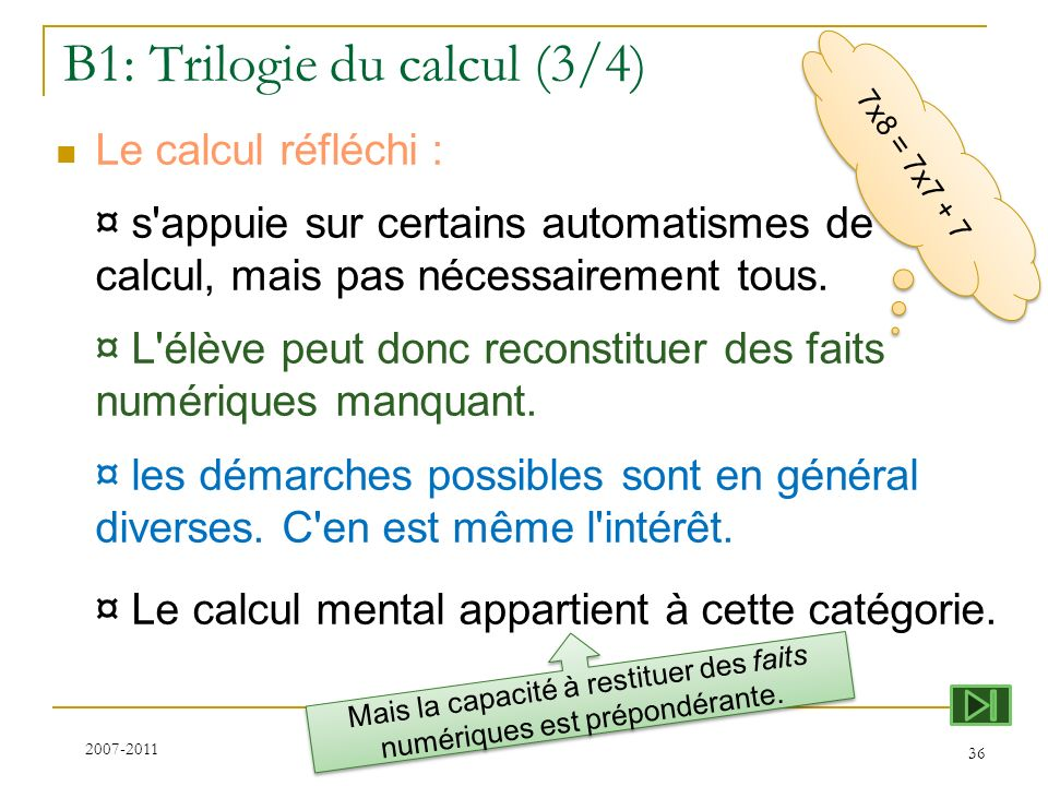 B1: Trilogie du calcul (3/4)