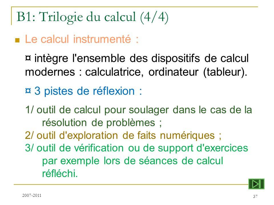 B1: Trilogie du calcul (4/4)