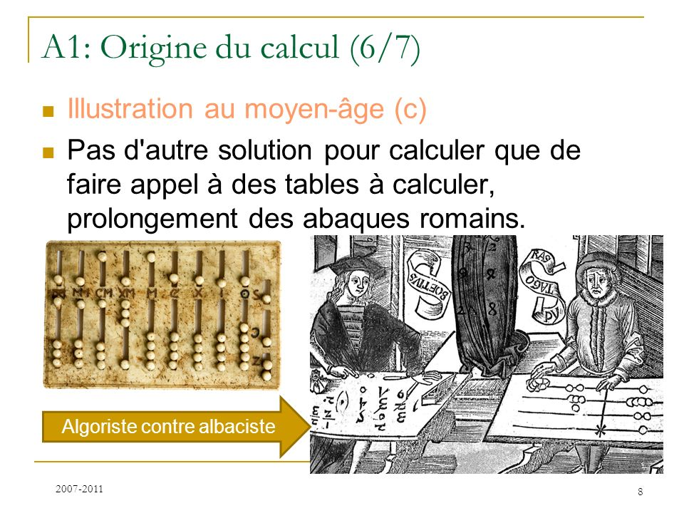 A1: Origine du calcul (6/7)