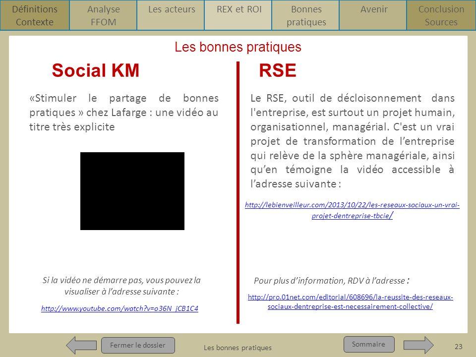 Social KM RSE Les bonnes pratiques
