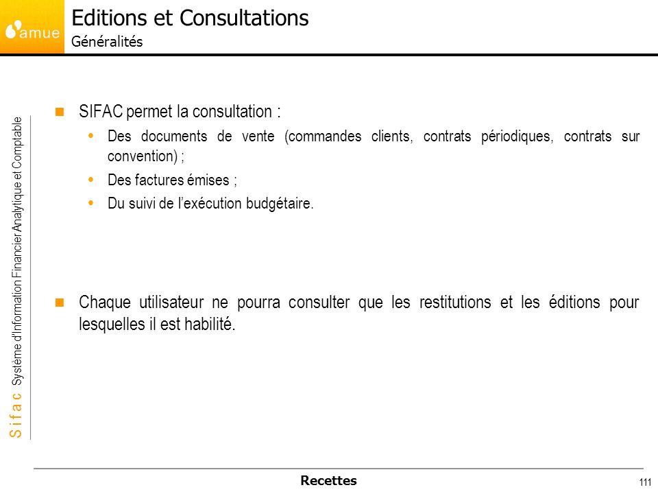 Editions et Consultations Généralités