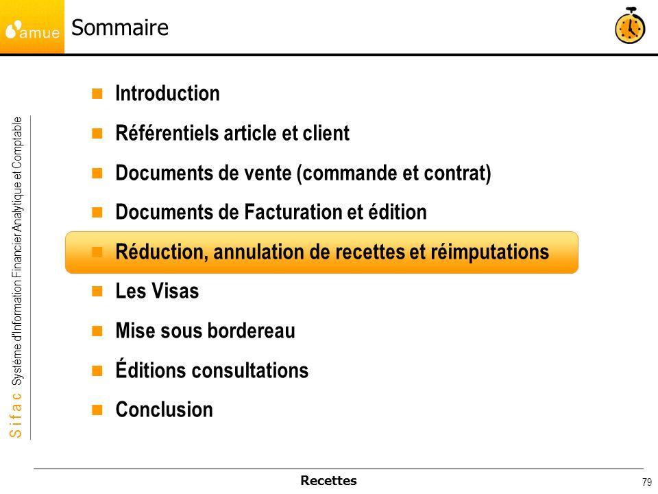 Sommaire Introduction. Référentiels article et client. Documents de vente (commande et contrat) Documents de Facturation et édition.
