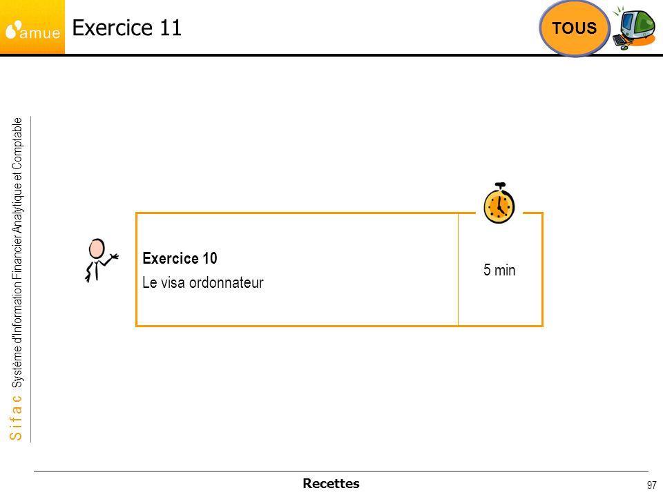 Exercice 11 TOUS 5 min Exercice 10 Le visa ordonnateur