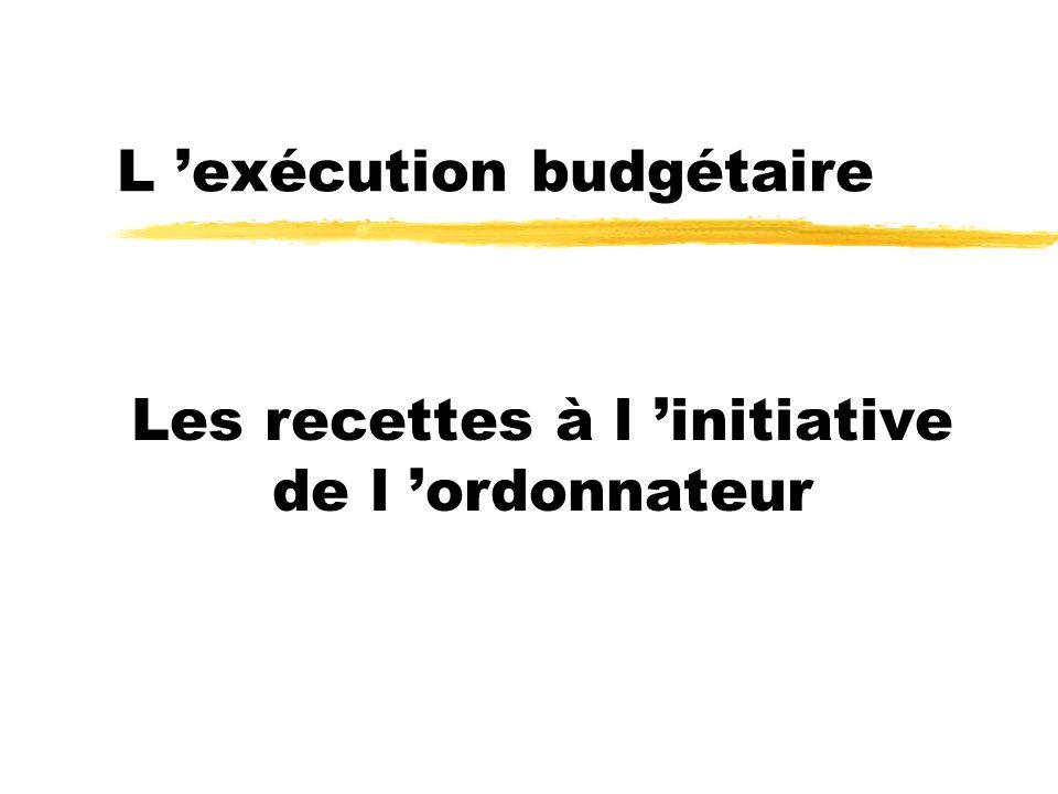 L 'exécution budgétaire