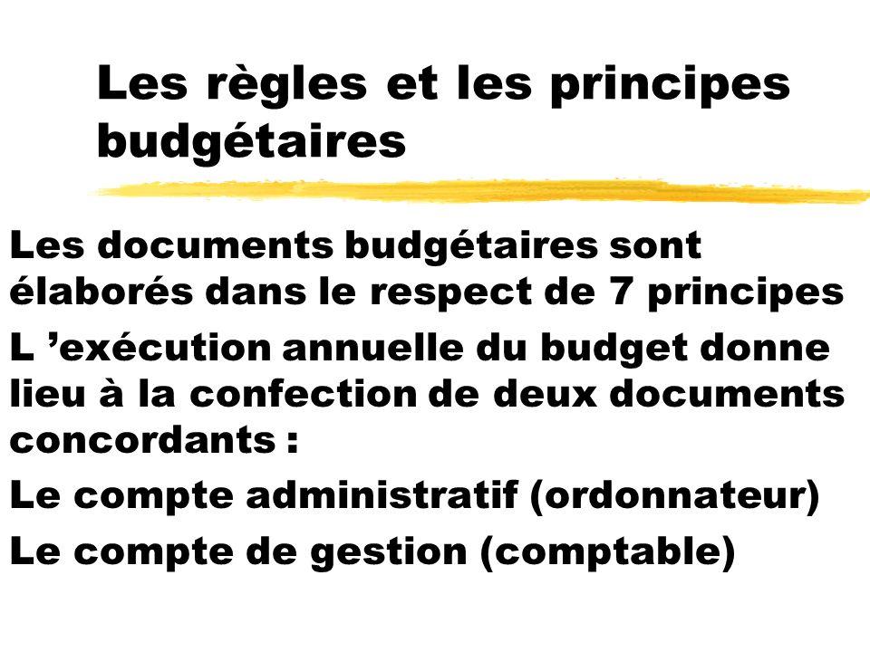Les règles et les principes budgétaires