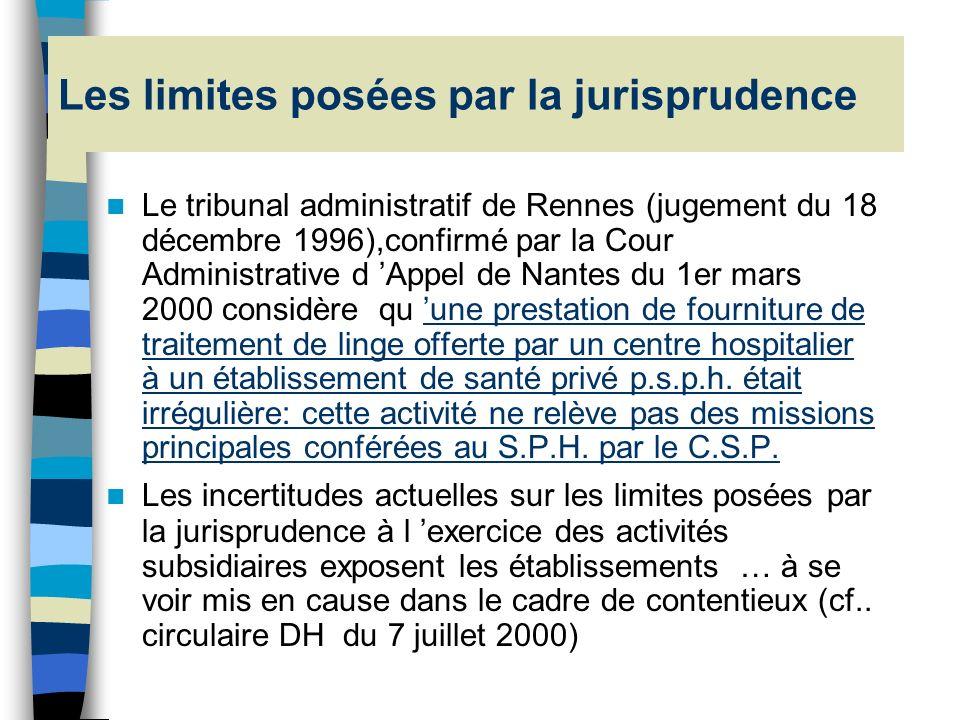 Les limites posées par la jurisprudence
