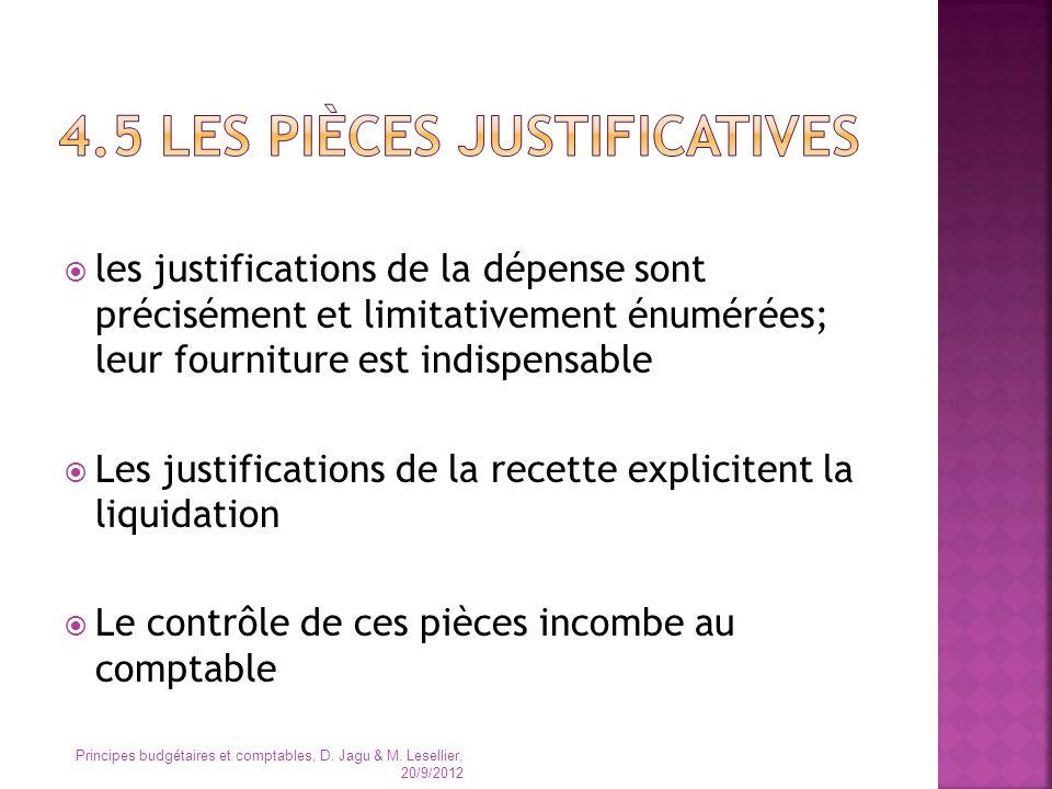 4.5 Les pièces justificatives