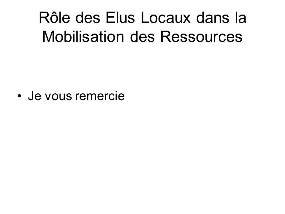 Rôle des Elus Locaux dans la Mobilisation des Ressources