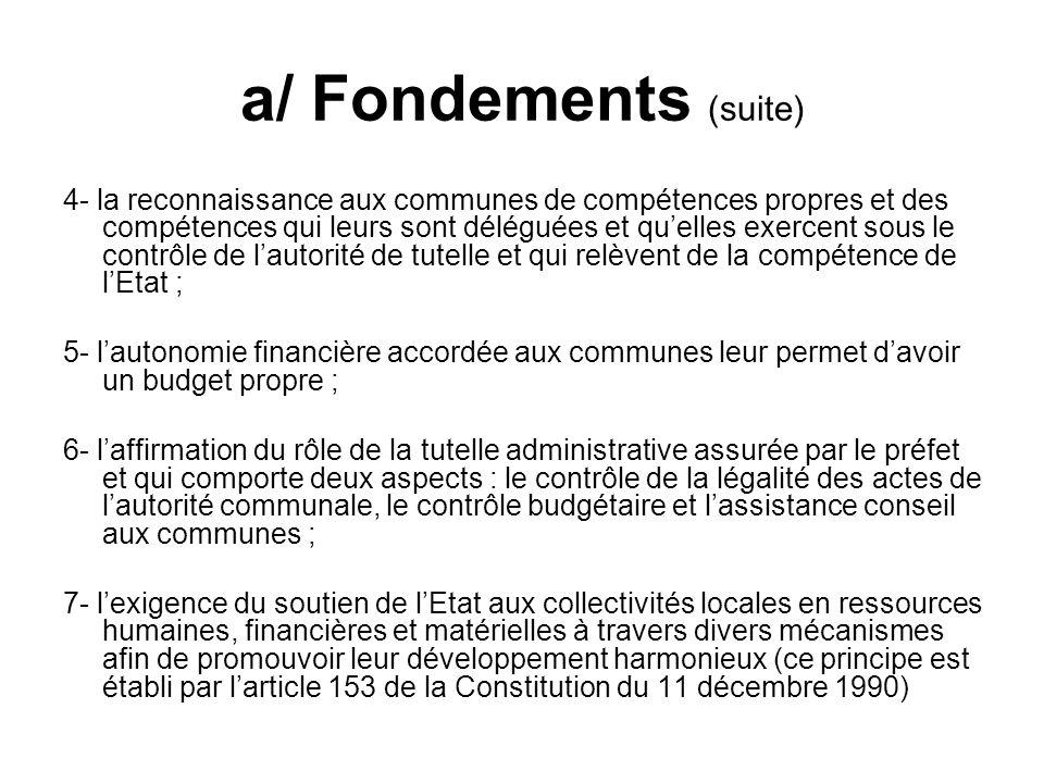 a/ Fondements (suite)