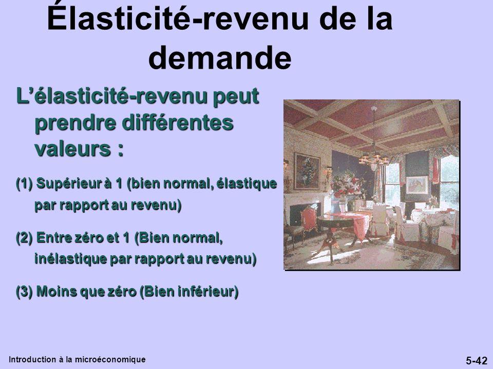 Élasticité-revenu de la demande