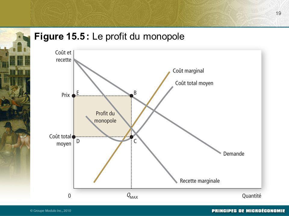 Figure 15.5 : Le profit du monopole