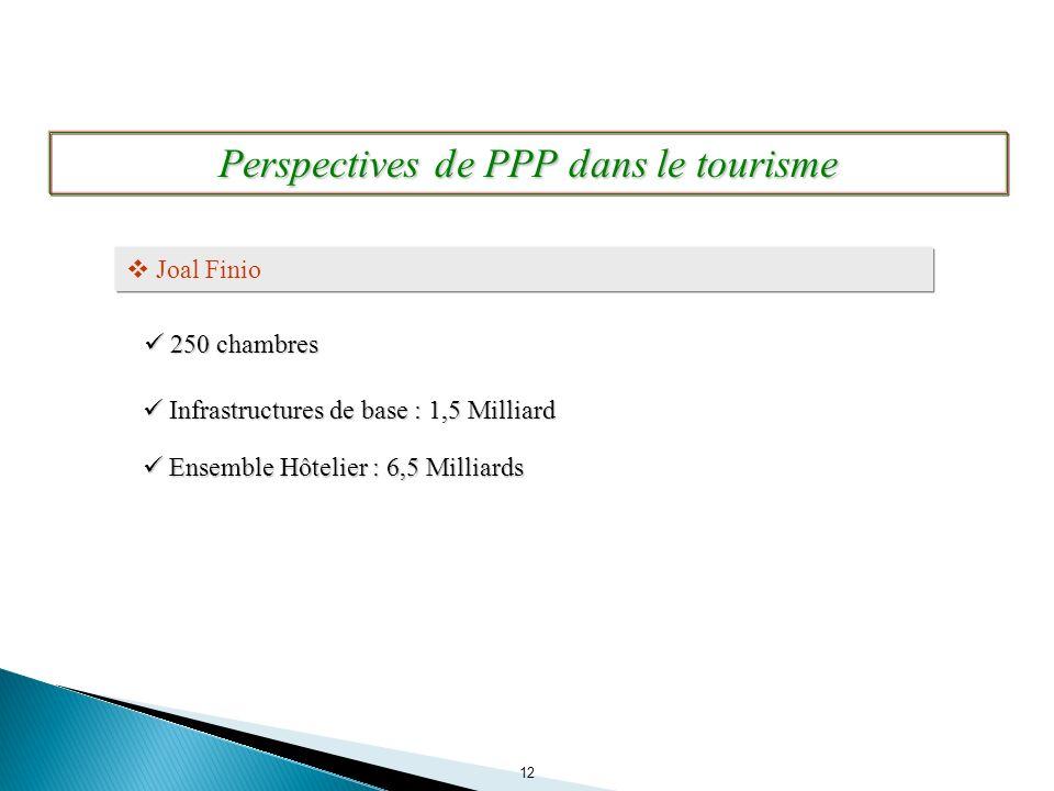 Perspectives de PPP dans le tourisme