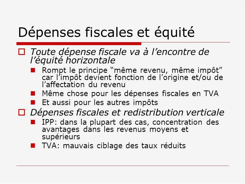 Dépenses fiscales et équité