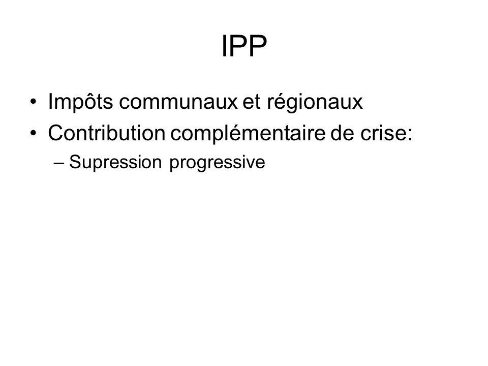 IPP Impôts communaux et régionaux