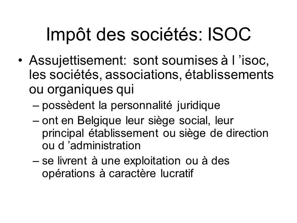 Impôt des sociétés: ISOC