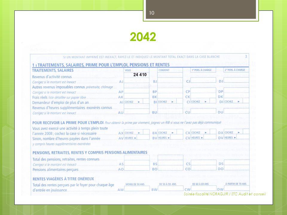 2042 Soirée fiscalité NORAGJIR / STC Audit et conseil 10