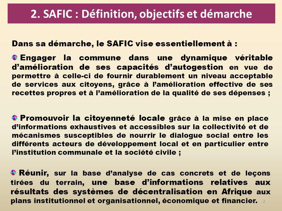2. SAFIC : Définition, objectifs et démarche