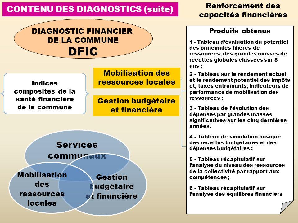 CONTENU DES DIAGNOSTICS (suite)